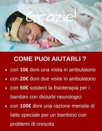 Regala 1 visita di ambulatorio a un bambino ammalato