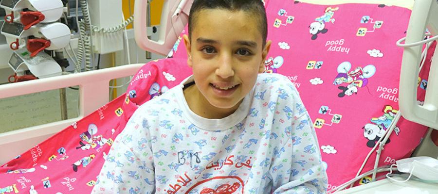 Qusay, dopo le cure per salvargli la vita
