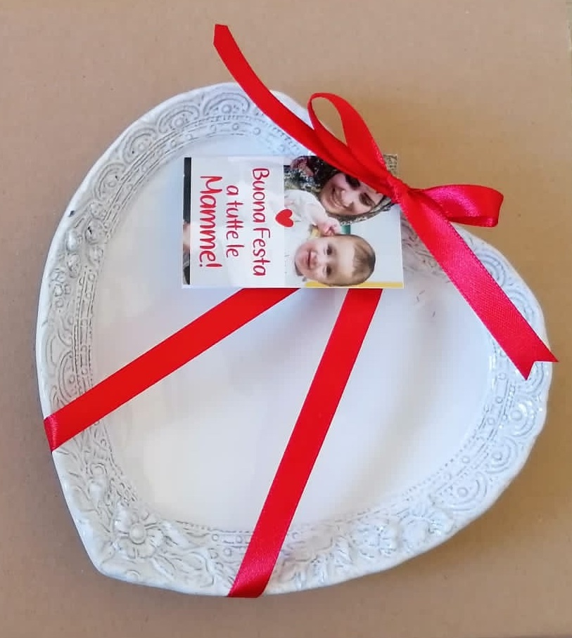 piattino decorativo ceramica forma cuore