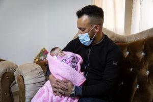 Zeina con il suo papà