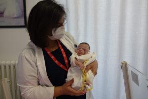 La piccola è stata seguita per settimane al Caritas Baby Hospital.