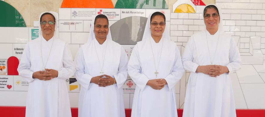 Suore di Maria Bambina al Caritas Baby Hospital di Betlemme
